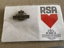 New Zealand RSA Pin Badge Returned Services Association New On Backing Card