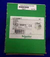 SCHNEIDER TeSys LC1D09F7 / 034879 CONTACTOR 110V 50/690HZ 4KW/400V 5HP/480V