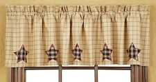 Beige Star Valance Curtains Kitchen Lounge Country SPECIAL PRICE
