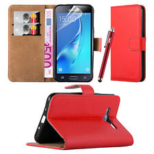 Cover Case For Samsung Galaxy J3 (2016) Flip Wallet Leather Card Slots Stand