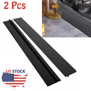 2Pcs Silicone Stove Counter Gap Cover Oven Guard Spill Seal Slit Filler Kitchen