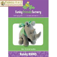 Randy Rhino - Toy Softie - Sewing PATTERN by Funky Friends Factory - Fabrics4u2
