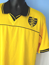 5b91869cfbb ARSENAL SOCCER JERSEY EAST LAKE S S Large Poly. Yellow Black CHALLENGER  TEAMWEAR