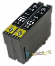 2 x Black T1281 XL Compatible Ink Cartridge for Epson Stylus SX125 (Non-oem)