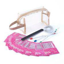 Nail Art Design Tips Powder Liquid Brush Glitter Clipper Primer File Bag Set Kit