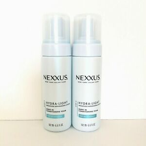 2 x Nexxus Hydra Light Weightless Moisture Leave-In Conditioning Foam 5.5 oz New