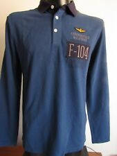 100% Aeronautica Militare Herren Polo- Shirt, Langarm; Gr.: L