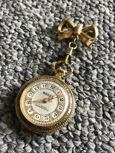 Antique Ladies Savoy Watch With bow Brooch