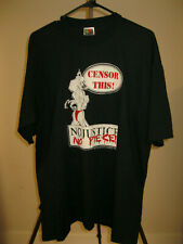 Cbldf Censor This ! Vintage 1998 T-Shirt Xl Never Worn No Justice No Piece !