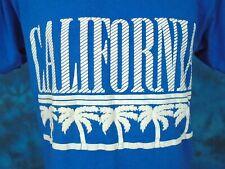vintage 80s California Palm Trees T-Shirt Medium beach surf soft thin