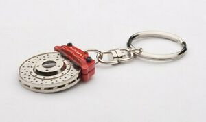 AUTOart 40057 Brake Disc Key Chain Evolution Red Caliper Key Holders