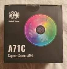 Cooler Master A71C Support Socket AM4 RGB CPU Air Cooler for AMD Ryzen (Black)