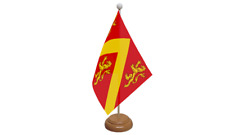 Anglesey Small Table Flag with Wooden Stand