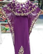 Dubái Marroquí Caftán Abaya Georgette Vestido Jilbāb Árabe Ropa Ms 1989