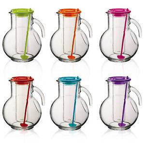 Bormioli Rocco 2L Water Glass Pitcher Jug Ice Core Cocktail Juice Stirrer Stick