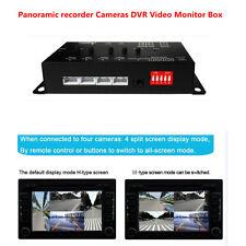 360° Full Views Car Parking Video Recording DVR Advanced Split Screen Switch Box