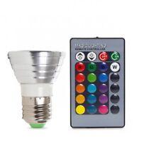 Lampadina Led Rgb 3W E27 con Telecomando Controllo Remoto Cambiacolore linq