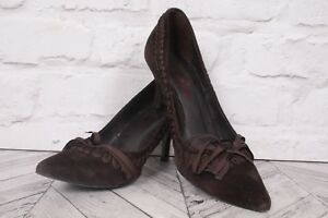 SACHELLE High Heel Court Pumps COUTURE BROWN Suede Leather RRP £129 EU 37 UK 4