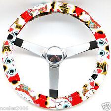 Handmade Steering Wheel Cover Red Lucky Cat