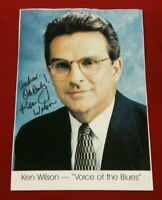 """KEN WILSON HAND SIGNED PHOTOGRAPH """"Voice of the St Louis Blues"""" Sportscaster"""