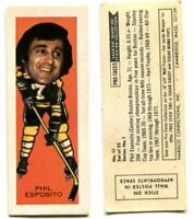 1974 Nabisco Sugar Daddy Phil Esposito Card #11 Boston Bruins