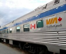 VIA Rail Canada 85' Budd Tavern-Observation Car Walthers 932-16501 HO NEW