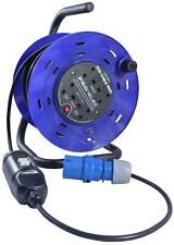 25m 240V Four Socket Cable Reel Extension Lead with RCD 4 Gang 16 AMP Caravan