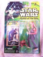 Star Wars Power Of The Jedi 2000 Jar Jar Binks Case Fresh MOC Collection 2 POTJ