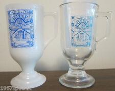 2 Alpine Village Inn LAS VEGAS coffee Mugs OKTOBERFEST milk glass Vintage BONUS