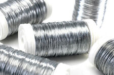 FLORIST REEL WIRE GALVANISED SILVER WIRE,ROSE WIRE 26g, 28g, 30g