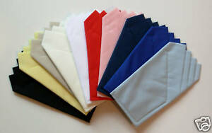 Pocket Square - Squares Custom Folded & Sewn- Just Slips in Pocket