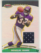 2004 BOWMAN'S BEST MEWELDE MOORE GAME JERSEY ROOKIE RC
