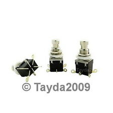 2 x 2PDT DPDT Momentary Stomp Foot Pedal Push Button Switch Solder Lugs
