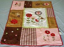 SPRING SEASON Baby Girl Cot Quilt + Appliques BRAND NEW **Free Post**