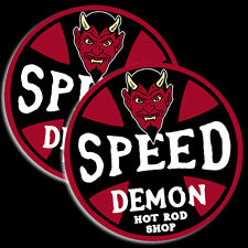Speed Demon Decal Toolbox Sticker Rat Rod Hot Rod Tool Box 2 PACK 766