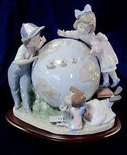 Lladro #5847 The Voyage Of Columbus Bnib Children Globe Limited Ed. Retired F/Sh