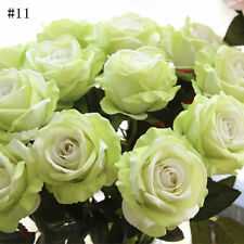 Hot Artificial Fake Roses Flannel Flower Bridal Bouquet Wedding Party Home Decor