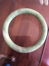 Natural Green Old Jadeite Jade Chinese Carved Bangle Bracelet 57mm