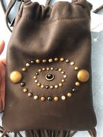 $995 Ralph Lauren Collection Calfskin Leather Western Crossbody Fringe Pouch Bag