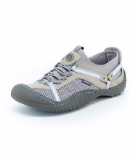 NEW  JBU JAMBU GRAY BLUE VEGAN LEATHER SNEAKERS WALKING  SIZE 8.5 $85