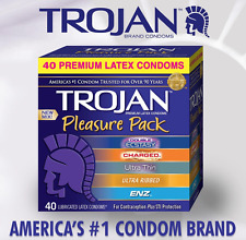 Trojan Pleasure Pack Assorted Premium Latex Condoms 40-Count FREE SHIPPING