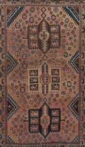 Antique GEOMETRIC Oriental Area Rug Traditional Wool Hand-knotted 5x8 ft Carpet