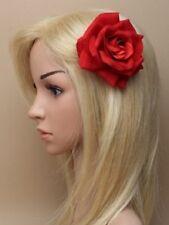 Red head pince à cheveux plume chapeau 6119 mariage courses fleur rose boho