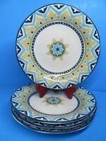"""222 Fifth Santiago 11"""" Dinner Plates Set Of 4 Plates In Very Good Condition."""