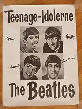 The Beatles Teenage-Idolerne Danish Poster 1960's Beatlemania Teen Idols 1964