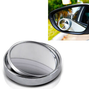 360° Car Rearview Blind Spot Side Rear View Mirror Convex Wide Angle Adjustable-