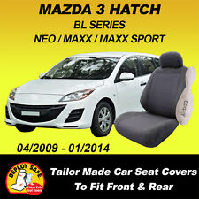 Custom Made Mazda 3 BL hatch Charcoal SEAT COVERS 2009-01/2014 AIRBAG Neo MAXX