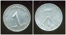 ALLEMAGNE  DDR  1 pfennig 1953 E  ( rare )