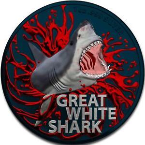 Australia 2021 1$ - Great White Shark - Bloody Shark - 1 Oz Silbermünze