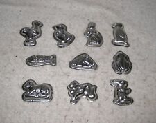 Lot of 10 Chocolate Candy Metal Molds